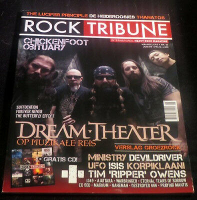 ROCK TRIBUNE with CD, Dream Theater, Chickenfoot, Obituary, Suffocation