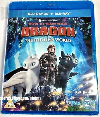 HOW TO TRAIN YOUR DRAGON: THE HIDDEN WORLD New 3D + 2D BLU-RAY Movie SHIPS NOW 3
