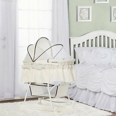 Dream on Me Lacy Portable 2 in 1 Bassinet and Cradle in Cream