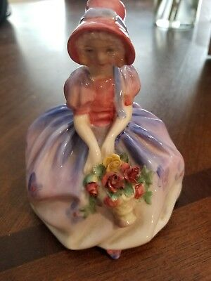 Vintage Royal Doulton England Monica Porcelain Lady Flower Girl Figurine HN1467