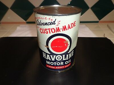 Vintage Havoline Motor Oil Can from The Texas Company (Texaco)