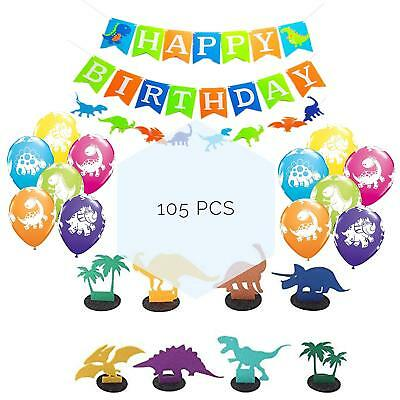 Dinosaur Party Supplies For Birthday Decorations Bundle Set Of 100pcs Latex And