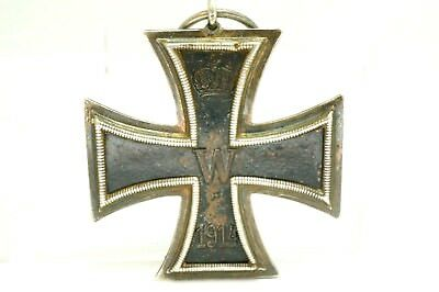 Authentic Antique WWI Imperial German Iron Cross Medal FW 1813 W 1914 Signed KO