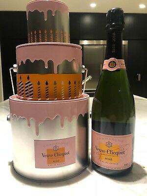 Veuve Clicquot Rosé NV 750ml & Limited Edition 200th Anniversary Cake Ice Bucket