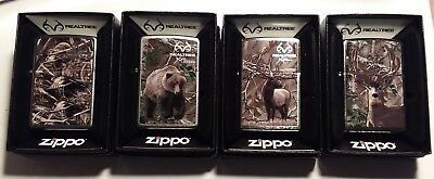 Realtree Zippo Lighters, Lot of 4