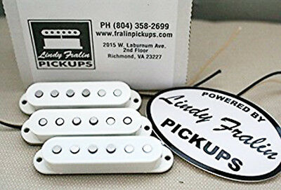 New Lindy Fralin Blues Special Strat Pickup Set of 3 Parchment Baseplate USA