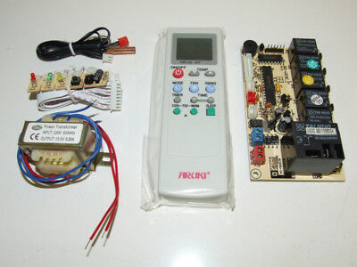 Universal Air Conditioning Remote Control & Pcb Board Kit Qd-U03C Qd-U03Ce Re387