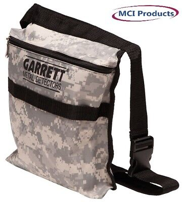 Garrett Camo Canvas Metal Detecting Finds Recovery Bag/Pouch with Belt 1612900