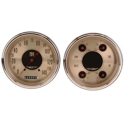 Classic Instruments CT54AN52 1954-55 Chevy Pickup All-American Nickel Gauge Set