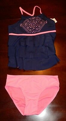 Girls Justice 2 piece  Tankini Swimsuit Size 10 12 14 16 18 NEW NWT