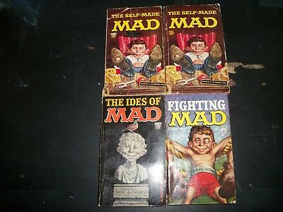 Lot of 4 Mad books
