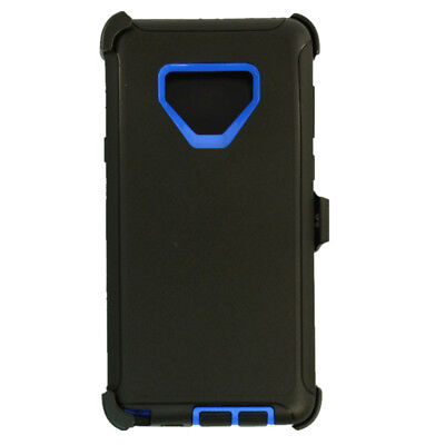 For Samsung Galaxy Note 9 Case Cover (Clip Fits Otterbox Defender) BLACK BLUE