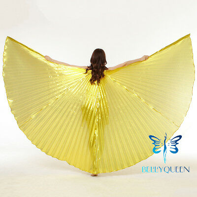USA Egypt Belly Dance Costumes Isis Wing Professional Indian Open/Closed