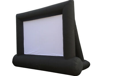 USED Oxford Cloth Airblown Inflatable Movie Screen 8*4m Outdoor Movie Cinema
