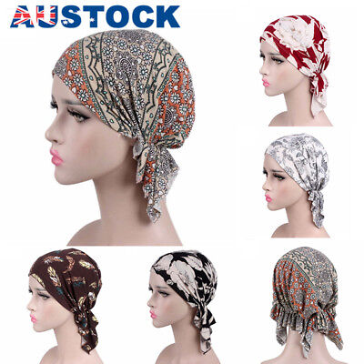 Muslim Chemo Turban Headwear Women Long Hair Head Scarf Headwraps Cancer Hats AU