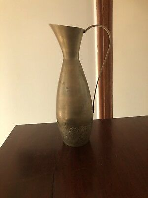 Brass Etched Jug