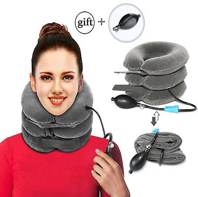 Inflatable Neck Traction Device Cervical Pain Relief Collar Brace Messenger