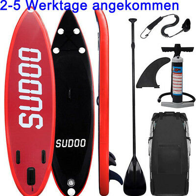 300cm SUP Board Stand Up Paddle Surf-Board aufblasbar inkl Paddel SUP Paddling R
