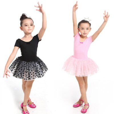 US Girls Kids Ballet Leotard Ballet Tutu Dress Toddler Skating Dancewear Skirt