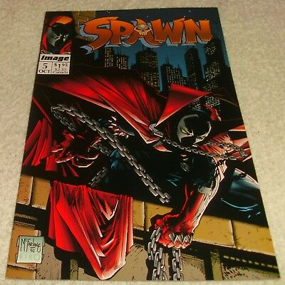 IMAGE COMICS SPAWN # 5 VF/VF+ w/poster