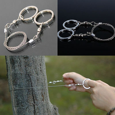 Outdoor Survival Emergency Stainless Steel Ring Wire Hiking Camping Saw Rope