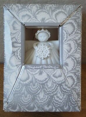 "3"" SNOWFLAKE ANGEL Shell Ornament by MARGARET FURLONG 1989 - w/Box & Stand"