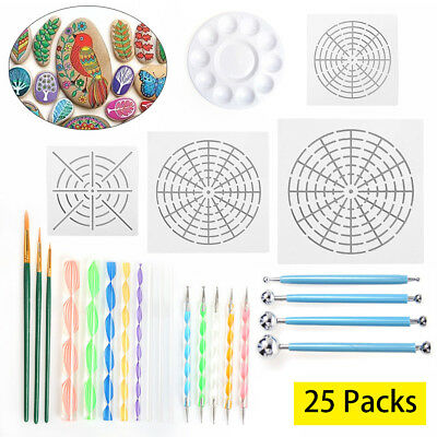Mandala Dotting Tools for Painting Rocks Pen Dotting Tools Mandala Stencil Brush