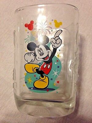 Walt Disney McDonald's magic Kingdom Mickey Mouse Glass 2000 Millennium
