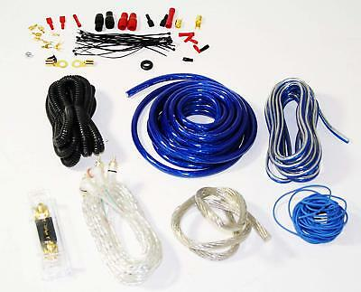 Audiotek X-KIT4-BL 4 Gauge Heavy Duty Amplifier Installation Pro Kit Cables Blue