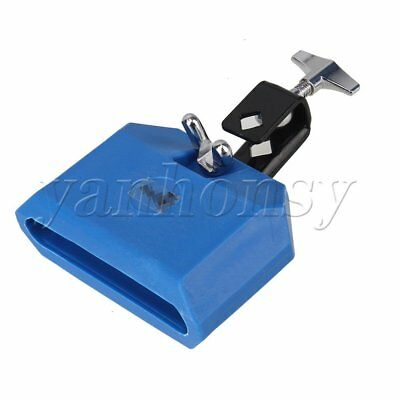 Modern High Pitched Plastic Percussion Instruments Block Integral Clamp Blue