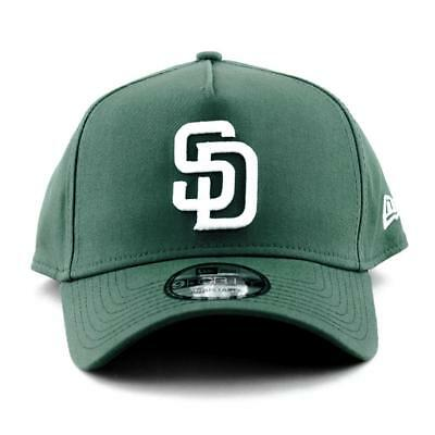San Diego Padres New Era Cap MLB 9Forty A-Frame Curved Brim Hat In Pine Green
