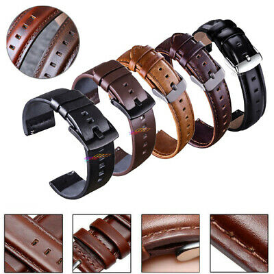 Vintage Leather Watch Band Replacement Quick Release Pin Wrist Strap 18 20 22mm