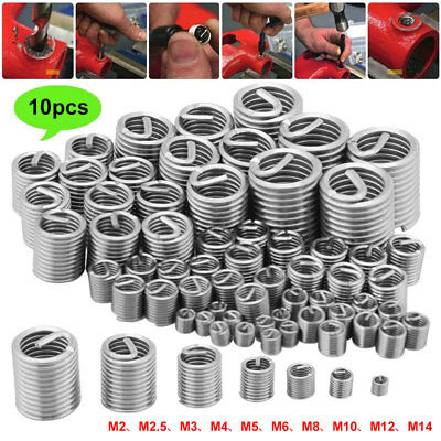 A217 Stainless Steel Wire Screw Sleeve Screw Sleeve 10pcs Spring Bush