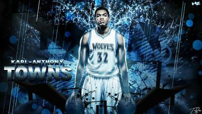 """TY20038 NBA Super Stars - Karl Anthony Towns Timberwolves 42""""x24"""" Poster"""