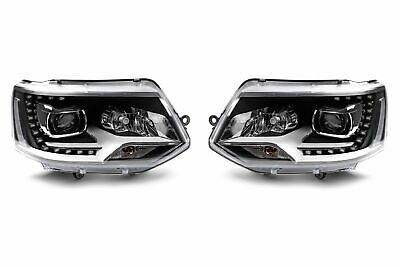 New VW Caravelle T5.1 Upgrade Headlights Pair Perfect OEM Xenon Style LED DRL