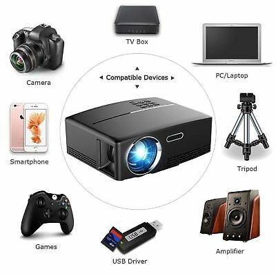 4K Portable LED 3D HD 1080P Home Theater LCD Cinema Mini Projecteur 2018 NEUF