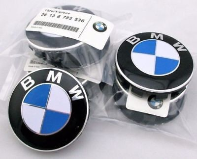 4 x Genuine bmw Emblem Logo Badge Hub Wheel Rim Center Cap 68mm Set of 4