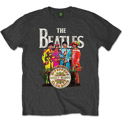 The Beatles 'Sgt Pepper' Grey t-shirt - Official Merchandise