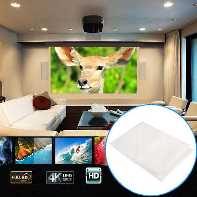 04A3 White Movie Screen Home Cinema Squares Portable Projector Curtain
