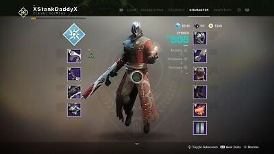 CHARACTER POWER LEVEL Destiny Account Recovery (PS4
