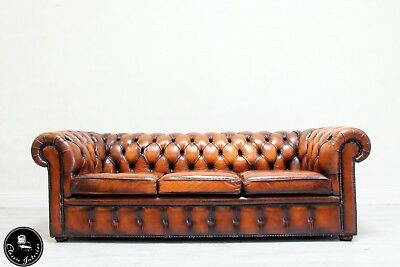 Chesterfield Sofa Leder Antik Vintage Couch Englisch Chippendale