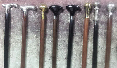 New Walking Stick Gentleman's Cane Silver Nickel Vintage Brass