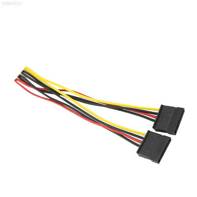 C9E4 4 PIN To X 15 Pin SATA One Split Two Power Adapter Cable Lead Line Connecto