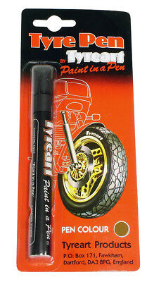 Oxford Motorcycle Motorbike Liquid Tyre Art Paint Marker Pen Gold TYPGD BC24621T