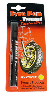Oxford Motorcycle Liquid Tyre Art Paint Marker Pen Yellow TYPYE BC24628 T
