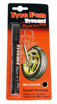Oxford Motorcycle Liquid Tyre Art Paint Marker Pen Black TYPBK BC24620 T