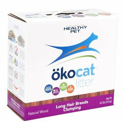 Natural Wood Cat Litter 8.4-Pound Clumping for Long Hair Breeds