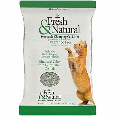 Fresh & Natural Scoopable Clay Cat Litter 40-Pound Fragrance Free