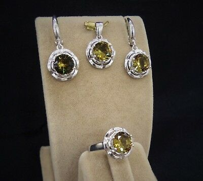 925 Sterling Silver AAA Quality Jewelry Alexandrite( Color Changing) Ladie's Set
