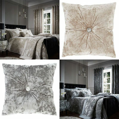 Catherine Lansfield Crushed Velvet Duvet Cover Bedding Bed Set or Accessories